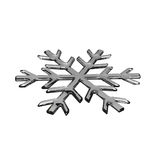 Gray glass snowflake Stock Image