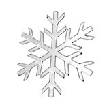 Gray glass snowflake Royalty Free Stock Photo