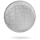 Gray globe. Vector icon of gray globe Stock Photos