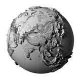 Gray Globe - Asia Foto de archivo libre de regalías