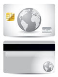 Gray globe credit card Stock Photos