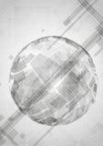 Gray Globe Design. Immagini Stock