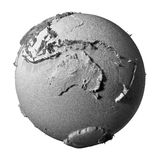 Gray Globe - l'Australia Illustrazione di Stock