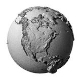 Gray Globe - Noord-Amerika Stock Illustratie