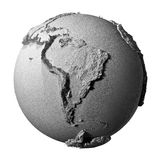 Gray Globe - South America Stock Image