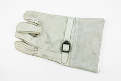 Gray glove for protect electric shock Royalty Free Stock Photos