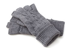 Gray gloves Stock Images