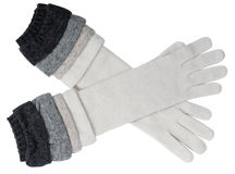 Gray gloves Royalty Free Stock Photo