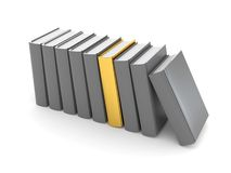 Gray and gold books Royalty Free Stock Photo
