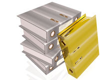 Gray and gold folders Royalty Free Stock Photo