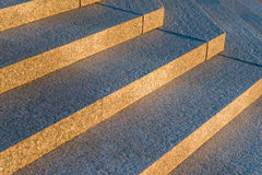 Gray granite stairs in a city Stock Photos