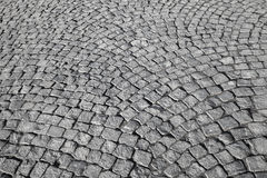 Gray granite stone pavement Stock Image