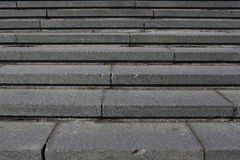 Gray granite stone steps Royalty Free Stock Images