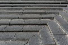 Gray granite stone steps Royalty Free Stock Photography
