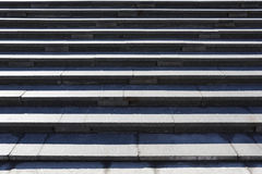 Gray granite stone steps Royalty Free Stock Photos