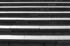 Gray granite stone steps Stock Photography