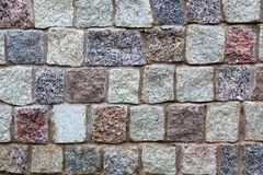 Gray granite stones wall background Royalty Free Stock Images