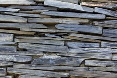 Gray granite wall Place the stacked layers. stock image