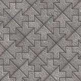 Gray Granular Mosaic Paving Slabs. Stock Photo
