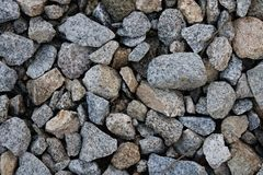 Gray gravel on background royalty free stock photo