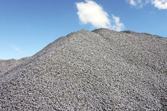 Gray Gravel Hill Stock Images