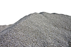 Gray Gravel Hill - White Background Royalty Free Stock Photos