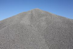 Gray gravel mound Royalty Free Stock Photos