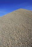 Gray gravel mound mountain concrete making. Gray gravel mound mountain for concrete making Royalty Free Stock Photography
