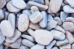Gray gravel stone floor texture background.  royalty free stock image