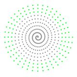Gray green abstract spiral Royalty Free Stock Photos