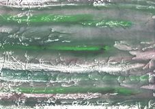 Gray green abstract wash drawing painting. Hand-drawn abstract watercolor texture. Used contrasting and transient colors Stock Photo