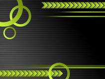 Gray and green background. With circles  and movement Royalty Free Stock Photos