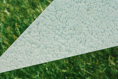 Mixed paper background. Abstract background produced by covering a fine  paper with   textured paper Stock Images