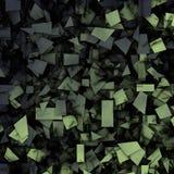 Gray green 3d abstract fragmentation geometric Royalty Free Stock Photos