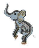 Gray green elephant standing Stock Images
