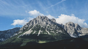 Gray and Green Mountain Royalty Free Stock Photography