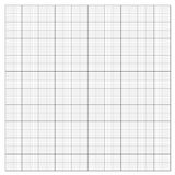 Gray grid paper. Technical engineering line scale measurement 100mm patch, vector Stock Image