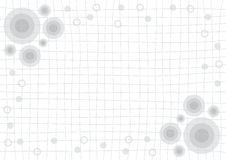 Gray Grid White Background with Circle Royalty Free Stock Photography