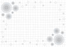 Gray Grid White Background con il cerchio Fotografia Stock Libera da Diritti