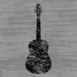 Grunge background guitar Royalty Free Stock Photo