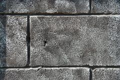 Gray grunge brick wall Stock Images