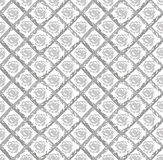 Gray grunge pattern with circles and rhombuses. Geometric vector seamless pattern Royalty Free Stock Photography