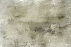 Grungy painting draft on canvas background or texture. Gray grungy painting abstract background or texture royalty free stock image