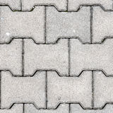 Gray h Shaped Paving Slabs. A texture Royalty Free Stock Photo