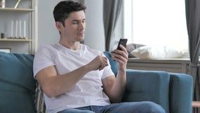 Gray Hair Businessman Using Smartphone stock video
