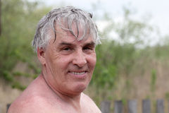 Gray haired man Stock Image