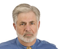 Gray-haired Man With Beard Royalty Free Stock Image