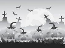 Gray halloween pumpkin background Stock Photography