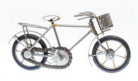 Gray Handmade Bicycle Figure Royaltyfri Foto