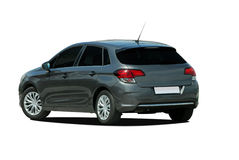 Gray hatchback Royalty Free Stock Photography